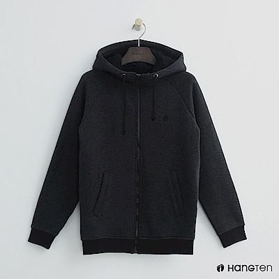 Hang Ten - 女裝 - 休閒立領連帽外套-黑