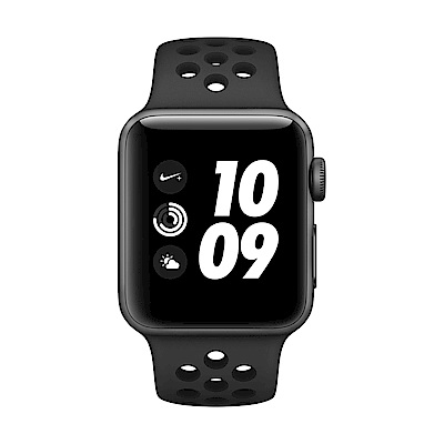 Apple Watch Series 3 GPS,38mm太空灰鋁殼/黑Nike錶帶