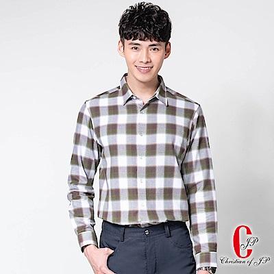 Christian城市品格棉質襯衫_綠白格(RW801-45)
