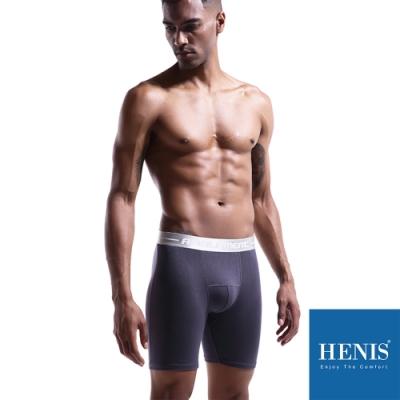 HENIS 貼彈壓力加長板 防磨機能四角褲 (灰)