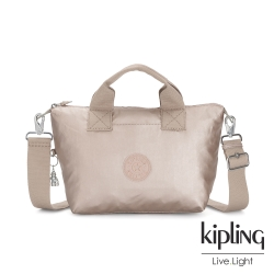 Kipling 都會氣質金屬金簡約手提肩背托特包-KALA MINI