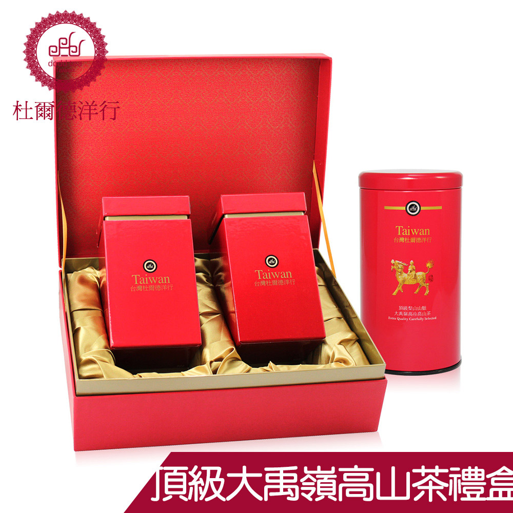 DODD 杜爾德洋行 頂級 梨山大禹嶺高山茶 茶葉禮盒組(100g*2入)
