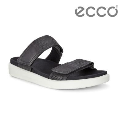 ECCO FLOWT M 簡約休閒涼拖鞋 男鞋-黑色