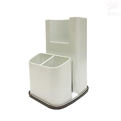 金德恩 台灣製造 廚房專用分離式蓄水盤筷子湯匙砧板收納架