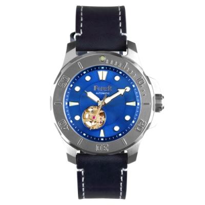 FIBER|海洋潛將系列|機械潛水錶 鏤空藍
