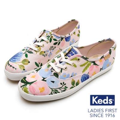 Keds x Rifle Paper CHAMPION 繽紛花卉帆布鞋-粉