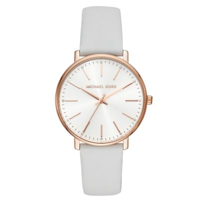 MICHAEL KORS簡約風采真皮腕錶/MK2800