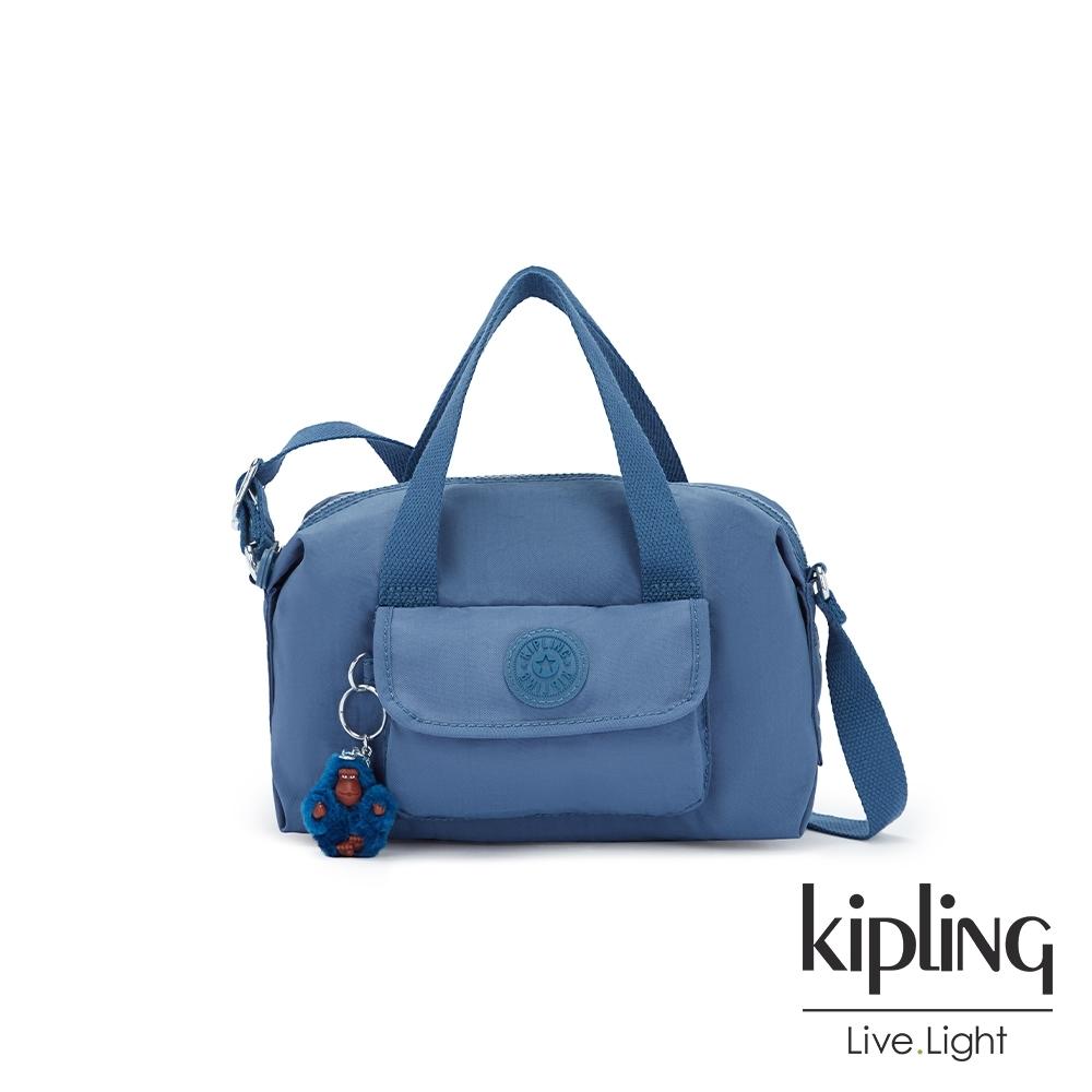 Kipling 優雅天穹藍波士頓手提兩用包-BRYNNE