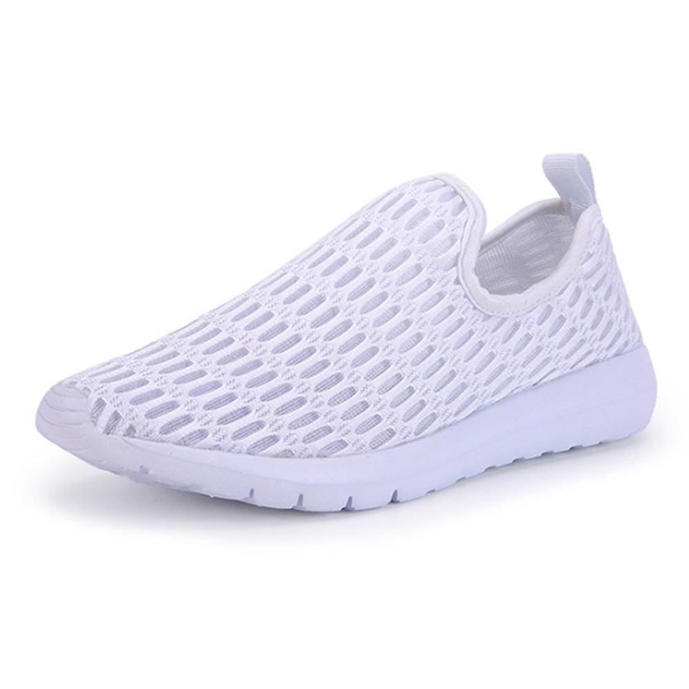 韓國KW美鞋館-飛織輕量網休閒鞋 白