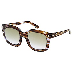 TOM FORD 大方框 太陽眼鏡-琥珀紋+紫色-TOM279-47Z