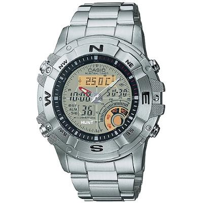 CASIO 多功能戶外專業不鏽鋼雙顯錶-白(AMW-704D-7A)/44mm