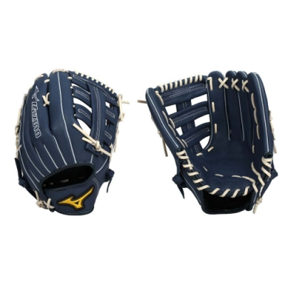 MIZUNO 壘球手套-棒球  右投 外野手套 美津濃 1ATGS21890-29 墨藍白黃