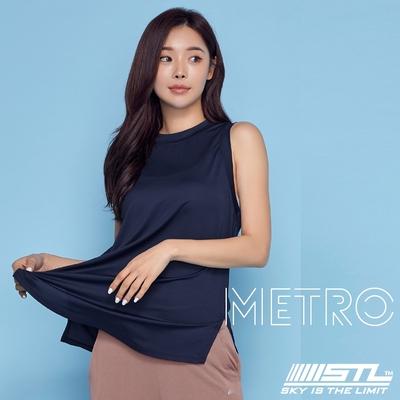 STL YOGA METRO SL 韓國瑜珈 地鐵Nashi 運動機能訓練無袖背心上衣 墨水藍InkBlue