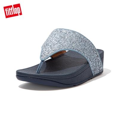 FitFlop OLIVE GLITTER MIX TOE-POST SANDALS夾腳涼鞋-女(瓷藍色)