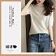 UGIZ-修身圓領素色針織造型上衣-4色(F) product thumbnail 1