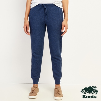 Roots女裝-休閒束口長褲-靛藍色