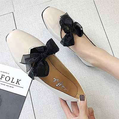 韓國KW美鞋館 流行穿搭典藏百搭平底鞋-米色