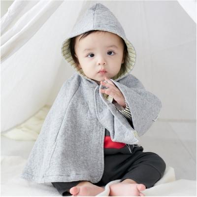 baby童衣 斗篷 保暖厚棉格紋披肩外套 47025