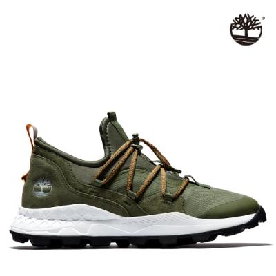 Timberland 男款葡萄葉綠織布布蘭克林鞋|A2D8G