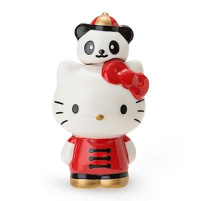 Sanrio HELLO KITTY中華飯店系列造型陶磁鹽/胡椒/香料罐