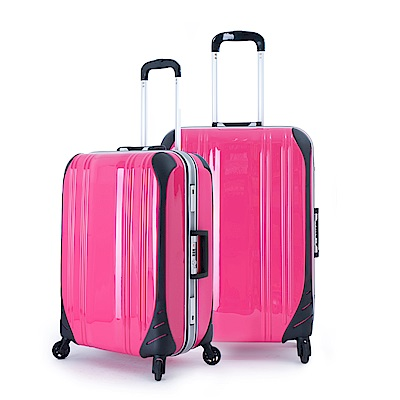 DF travel - 簡奢風華極光鏡面鋁框20+24吋2件組行李箱-共4色
