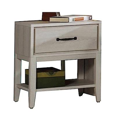 綠活居 羅波利時尚1.5尺木紋床頭櫃/收納櫃-46x40x54cm-免組