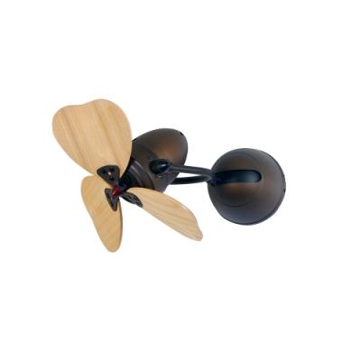 VENTO芬朵 FINO-CHIC 16吋吊扇 大心型 仿古色本體 淺木紋葉片 不含安裝