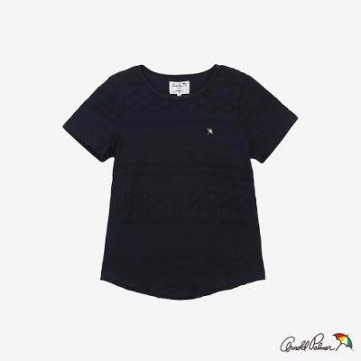 Arnold Palmer -女裝-提織條紋寬鬆T恤-藍色