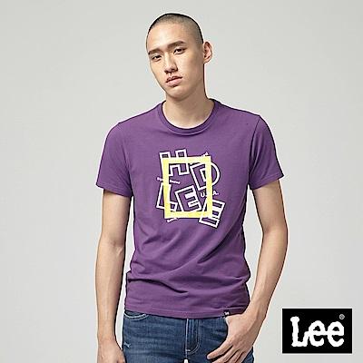 Lee HD LEE 黃框短袖圓領T恤-紫
