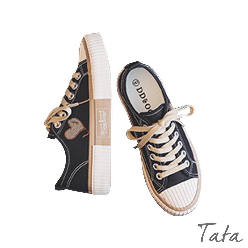 百搭愛心刺繡帆布鞋 TATA