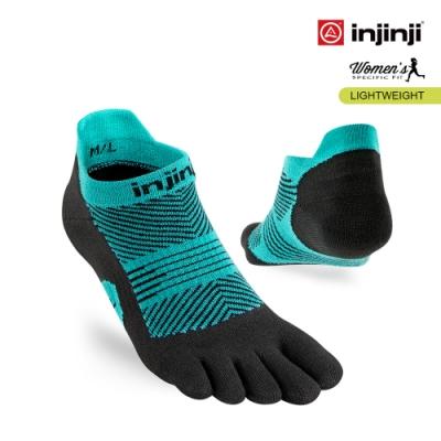 【INJINJI】RUN女輕量吸排五趾隱形襪 [寶石綠]