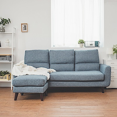 Home Feeling L型沙發/布沙發/貴妃椅/獨立筒(2色)-DIY