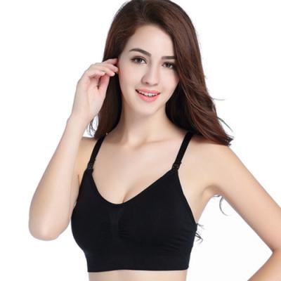 [ Karina ] -無鋼圈舒適上開扣式哺乳內衣(黑色)