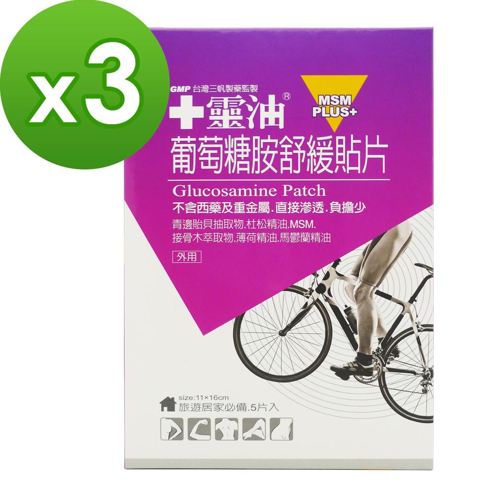 【十靈本舖】十靈油葡萄糖胺舒緩貼片(5片/包)3盒組