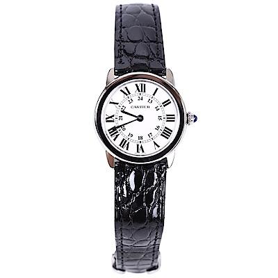 Cartier RONDE SOLO DE W6700155 石英腕錶-黑/29.5mm
