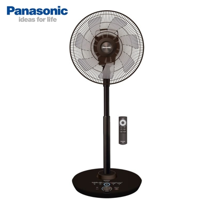 Panasonic國際牌 14吋 8段速ECO溫控微電腦遙控負離子DC直流電風扇 F-H14GND-K 奢華型
