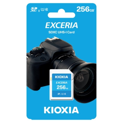 KIOXIA EXCERIA SDHC UHS-I U1 C10 R100 256GB 記憶卡