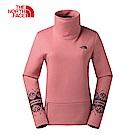 The North Face北面女款粉色保暖透氣印花上衣|3L7KUBG