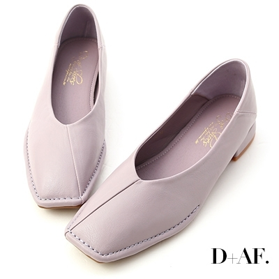 D+AF 甜甜淡淡.超軟V口素面包鞋*紫