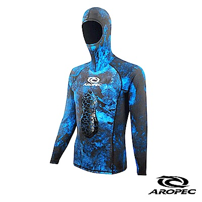 AROPEC Silence 打獵男款連帽潛水防寒上衣 迷彩藍