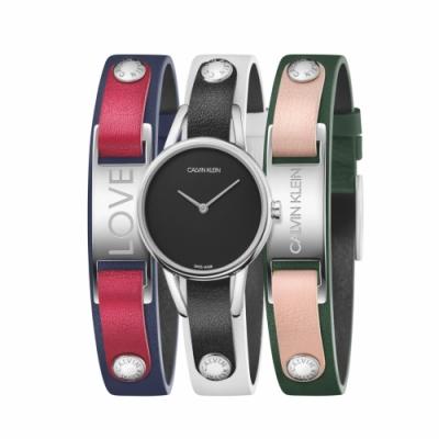 Calvin Klein CK質感飾品腕錶(K9D231LY)32mm三色錶帶可替換