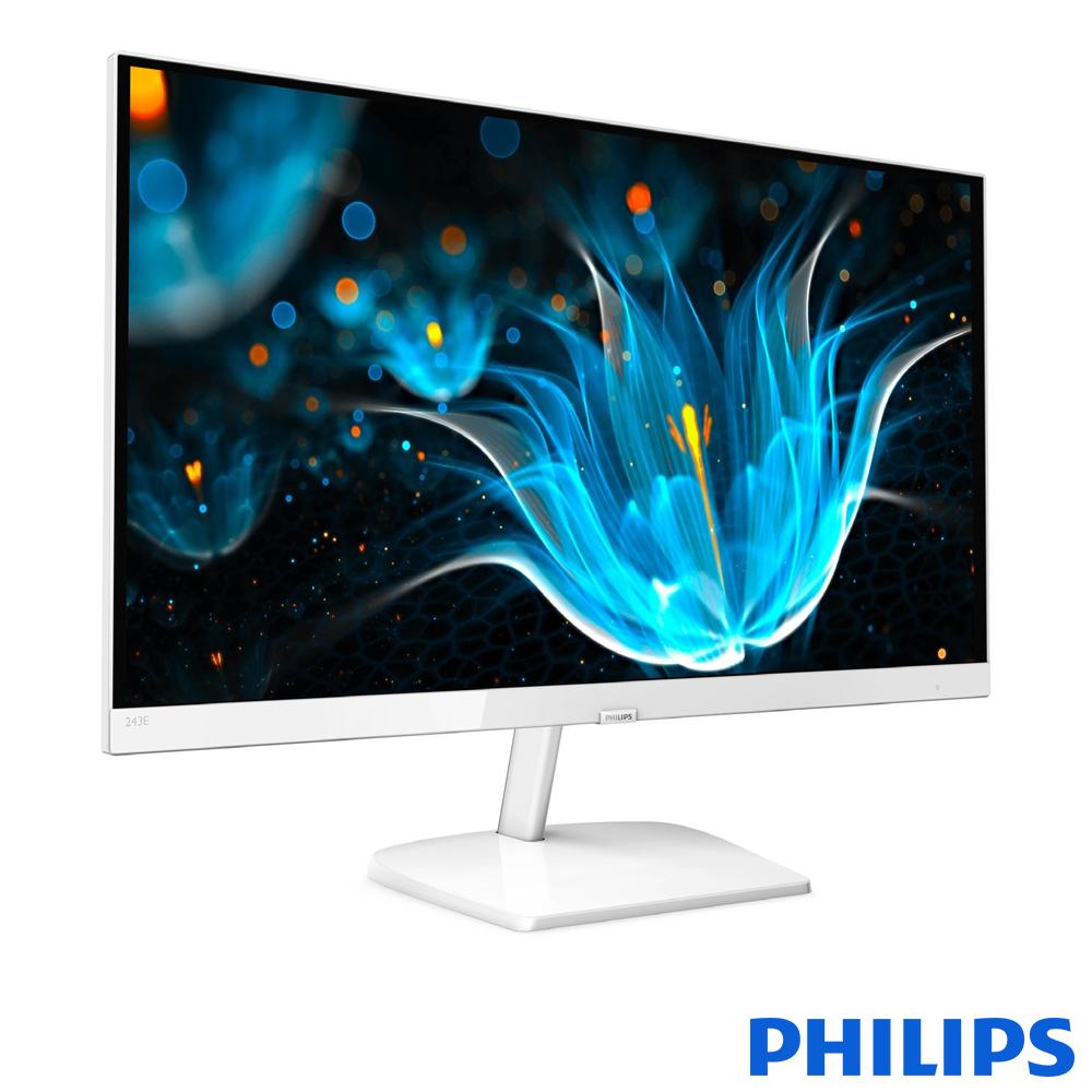 PHILIPS 243E9QHSW 24型(寬) (白色)液晶顯示器