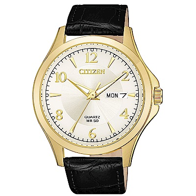CITIZEN星辰 經典紳士三針時尚皮帶錶(BF2003-25A)