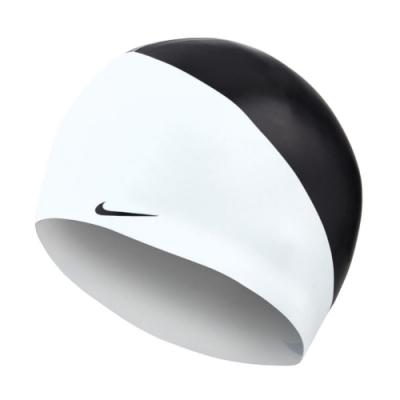 Nike 泳帽 JDI Silicone Cap 男女款 游泳池 矽膠 成人 競速  高彈性 貼合 黑 白 NESS9164001
