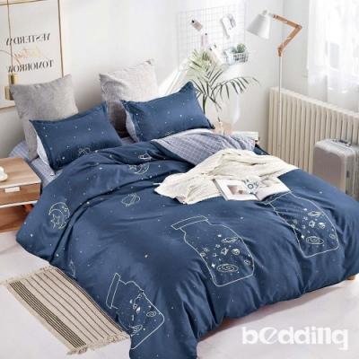 BEDDING-活性印染-特大6x7薄式床包枕套三件式-星空許願