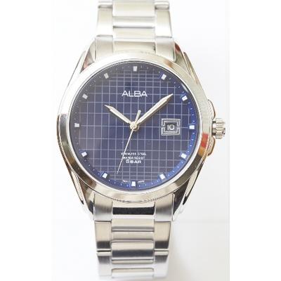 ALBA 英倫情人紳士風男錶-不鏽鋼錶帶/藍(AS9C79X1)/36mm