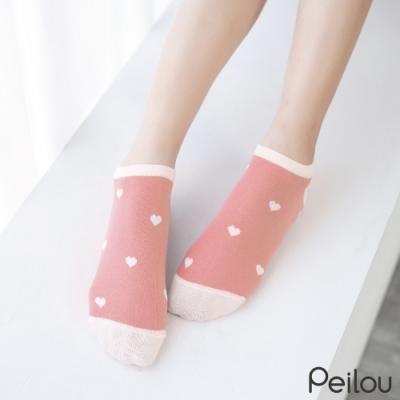 貝柔消臭精梳棉船襪-愛心(6雙組)