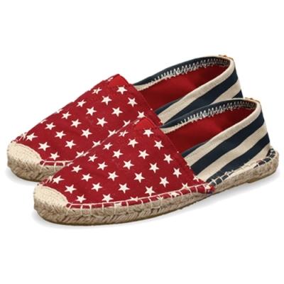 韓國KW美鞋館 (現貨+預購)-粗麻底紅星星草編休閒帆布鞋-紅