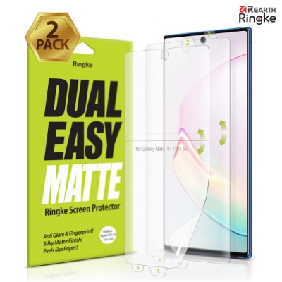 【Ringke】Note 10 Plus [Dual Easy] 螢幕保護貼-霧面(2入)