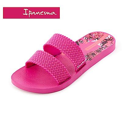 IPANEMA Slide系列 拖鞋-桃紅印花